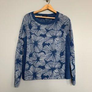 J. CREW | garment dyed linen swing sweater batik